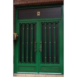 Puerta forja verde elipse