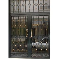 Puerta forja oro trébol